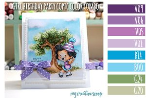 Girl Birthday Party Copic Marker Color Combo