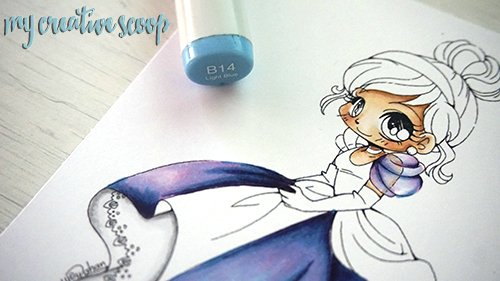 iridescent Coloring Technique using Copic Markers 7