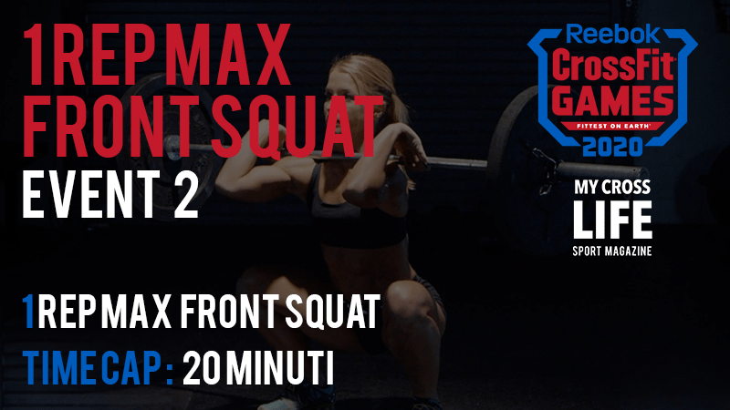 1 Rep Max Front Squat | Evento 2 dei CrossFit Games 2020
