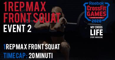 1 Rep Max Front Squat | Evento 2 dei CrossFit Games 2020