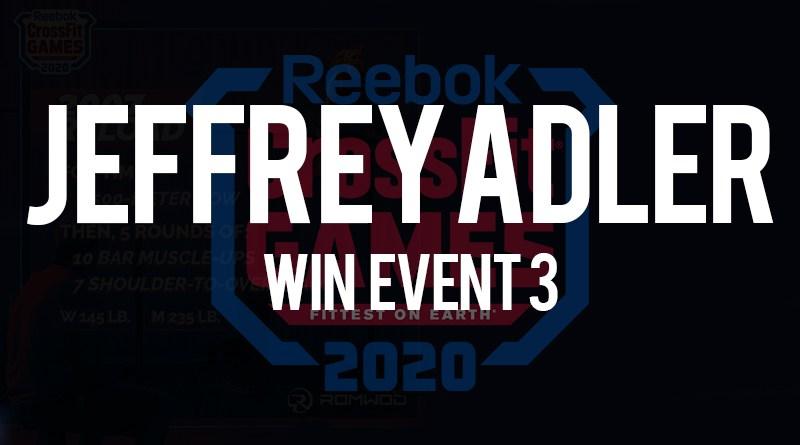 Jeffrey Adler vince l'evento n 3 dei crossfit games