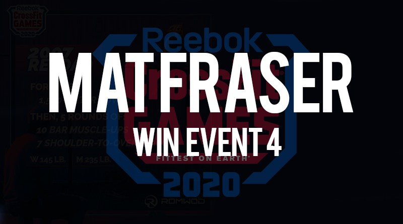 Mat fraser vince l'evento n 4 dei crossfit games