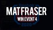 Mat Fraser vince l'evento n°4 dei CrossFit Games 2020 Handstand Sprint