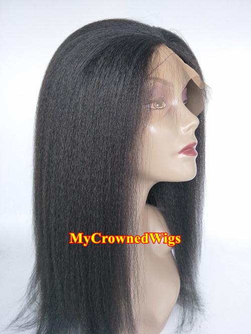 Brazilian Virgin Italian Yaki Bleached Knots Wig For Black