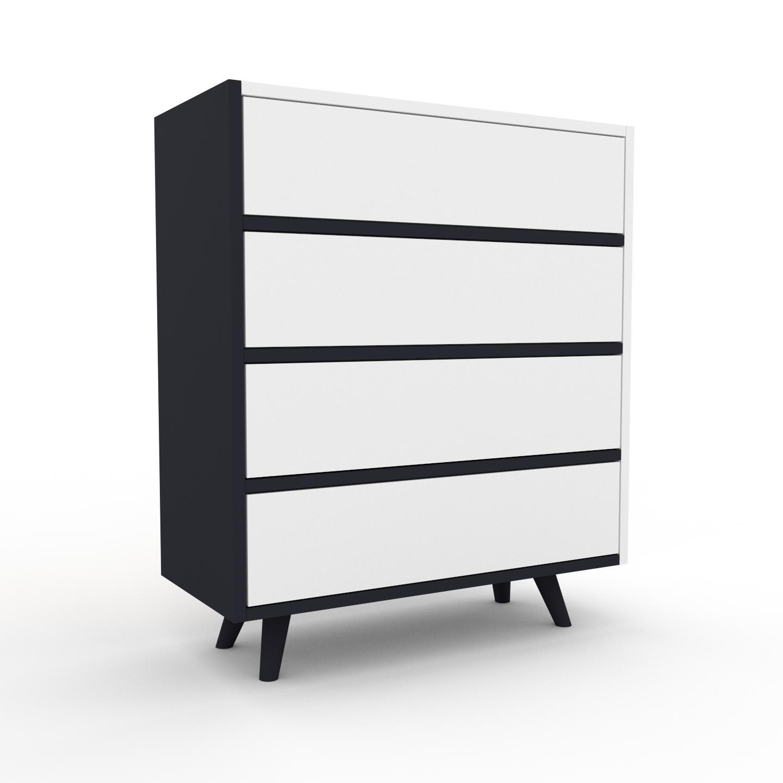 commode anthracite piece de caractere sophistiquee avec tiroir blanc 77 x 91 x 35 cm personnalisable
