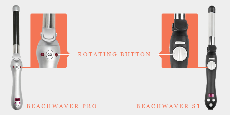 Beachwaver Pro And  Beachwaver S1 Rotating Button