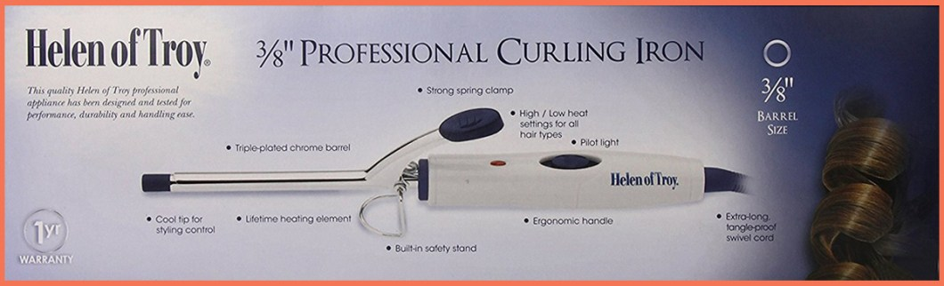 Helen of Troy 1538 Spring Curling Iron, White, and 3/8 Inch