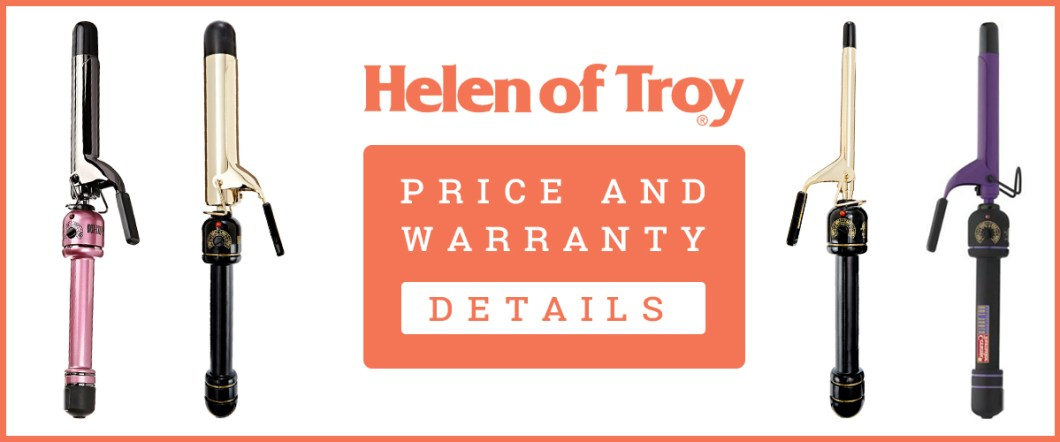 Price And Warranty Details Banner Of Helen of Troy Curling Iron