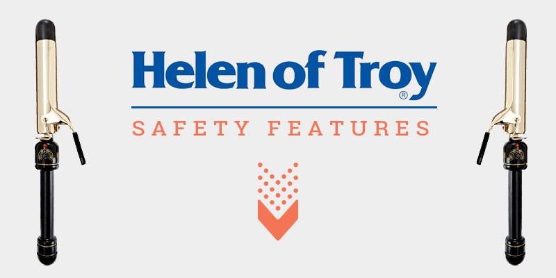 """Safety Outlooks Of Helen Of Troy Gold Series 1-1/4"""" Spring Curling Iron"""