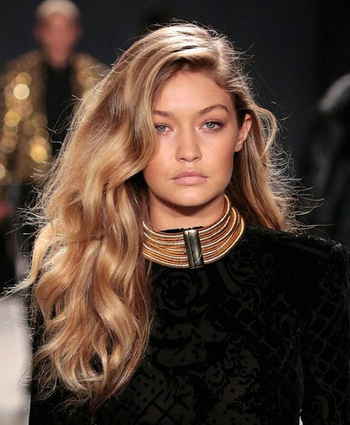 Gigi Hadid Big Waves Hairstyle