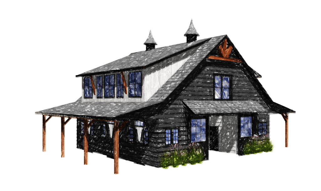 Hand Rendering Lexington Barn Kit