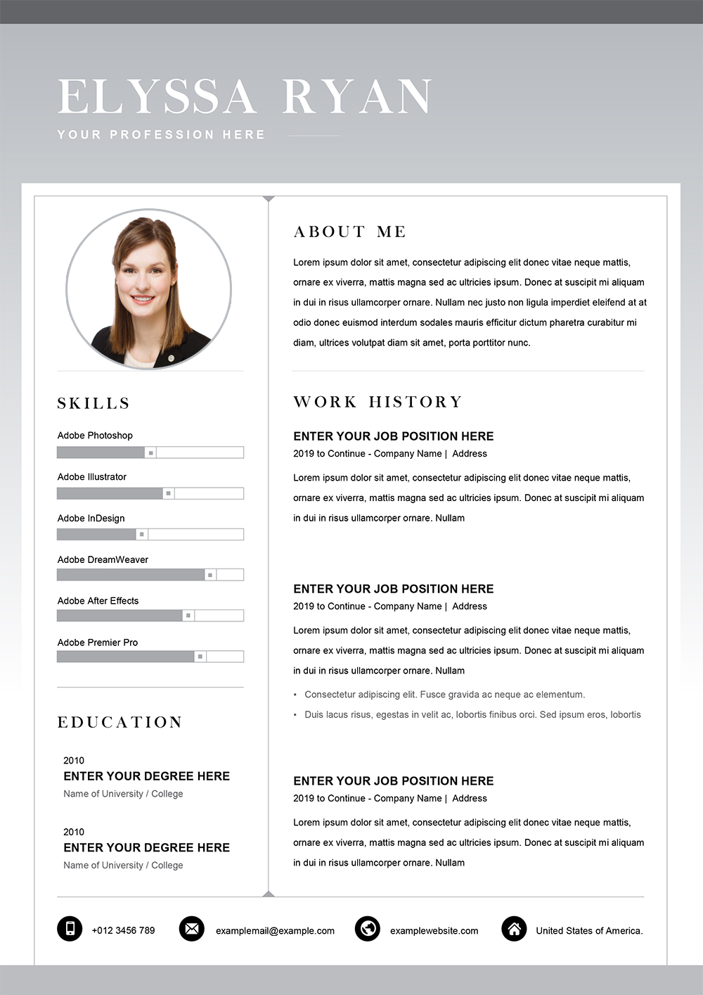 Functional Resume Word Template Cv Templates In Word To Download