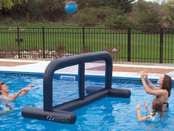 Huffy Inflatable Pool Volleyball Net With Two Spalding