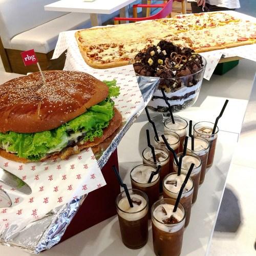 Giant Burger, Four Seasons Pizza, Trifle, and Iced Tea of the RBG Xtreme Meal by Park Inn Davao