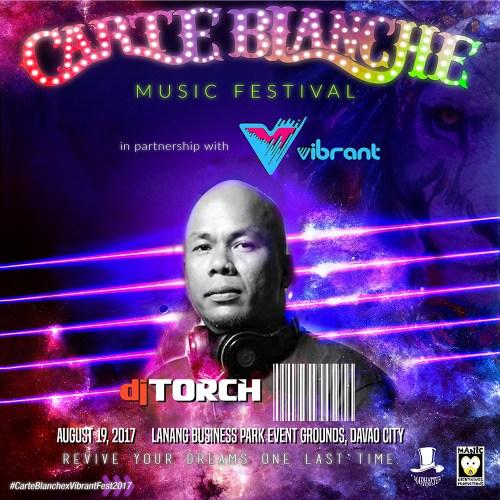 Carte Blanche 2017 Lineup: DJ Torch
