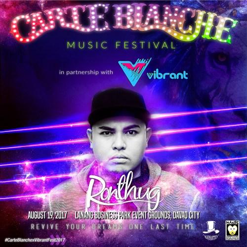 Carte Blanche 2017 Lineup: MC Ronthug Madela
