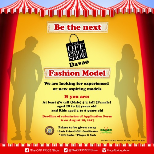 TOPS Davao 2017 Fashion Model Search