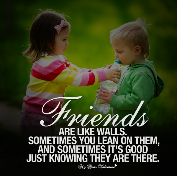 Friends are there for each other