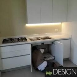 Cucina laccata bianco opaco Milano