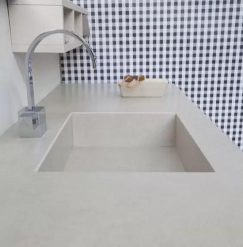 Piano con vasca integrata piccola GR in gres, senza troppopieno. L 301 (max) x P 51 x SP 1 cm