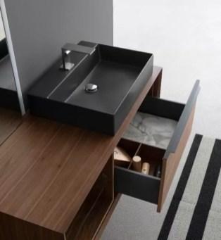 Lavabo tuttofuori Uma in ceramica, nero opaco, L 61 x P 46.5 x A 15 cm