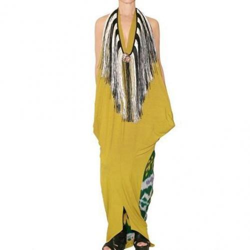 Afroditi Hera Kleid Im Jersey Und Batik Kaftan