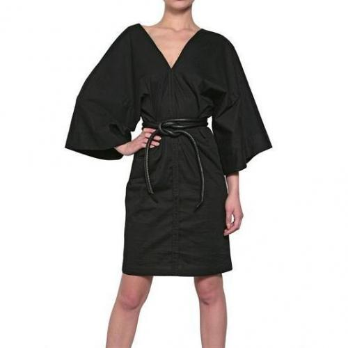 A.F.Vandevorst Stretch Baumwoll-Popelin Kimono Kleid