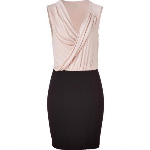 Akiko Almond/Black Draped Bodice Dress