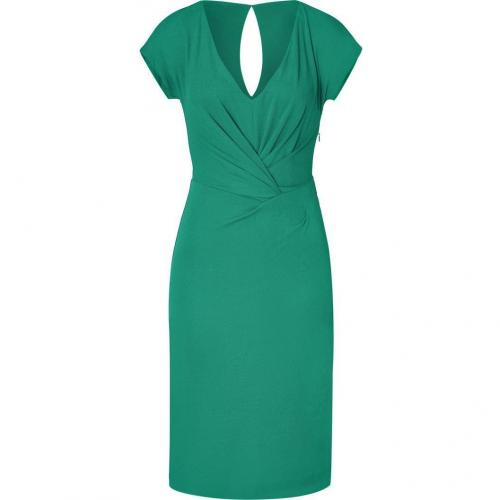 Alberta Ferretti Emerald Draped Dress