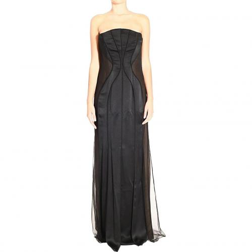 Alberta Ferretti Long bustier satin dress Trägerlos
