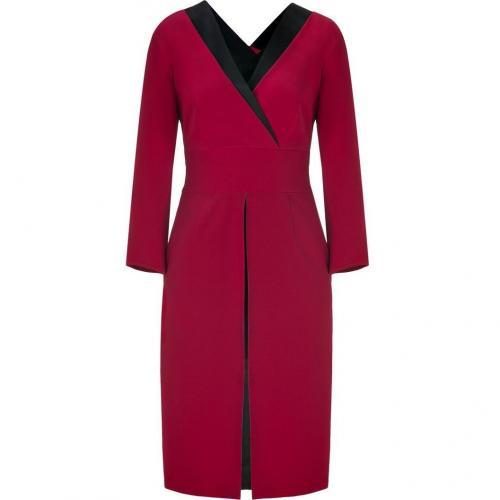 Alberta Ferretti Red/Black Silk Dress