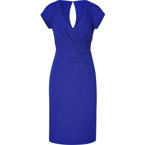 Alberta Ferretti Royal Blue Draped Dress