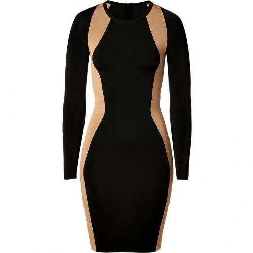 A.L.C. Black/Camel Stretch Cullun Dress