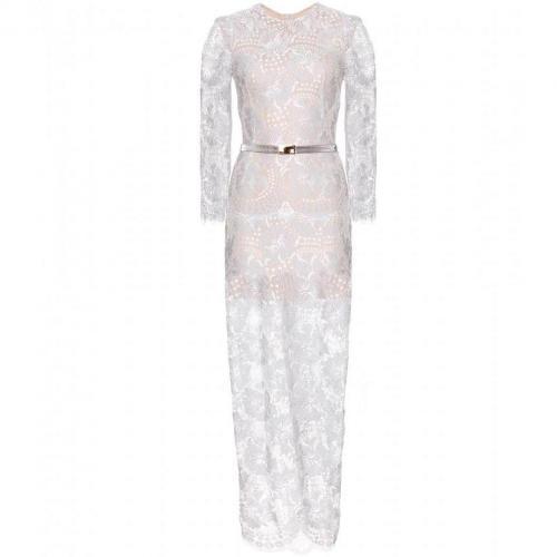 Alessandra Rich Abendkleid Aus Spitze White