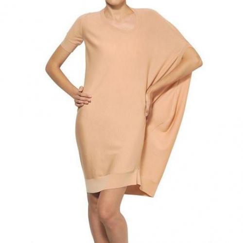 Alexander McQueen Asymmetrisches Kleid Aus Extra Feiner Merinowolle