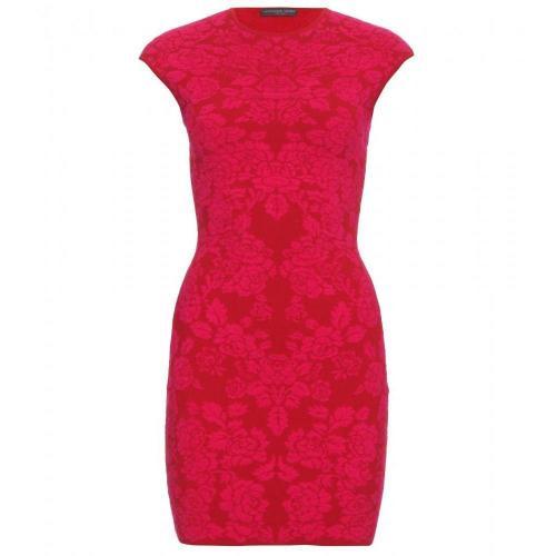 Alexander McQueen Intarsienstrickkleid Pure Pink