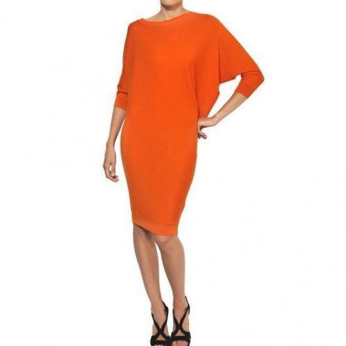 Alexander McQueen Kleid Aus Extra Feiner Merinowolle