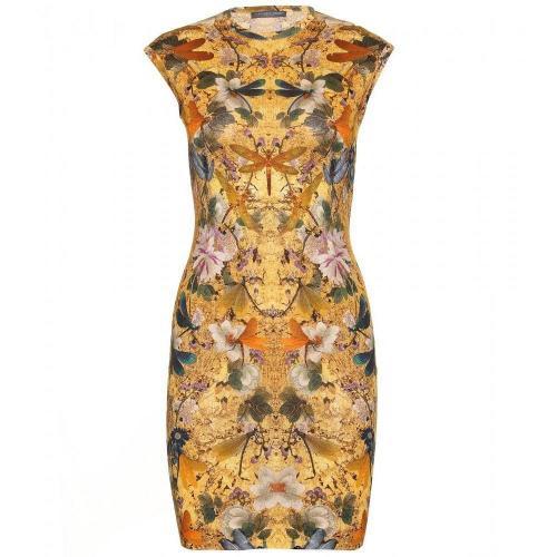 Alexander McQueen Print-Kleid Aus Wolle