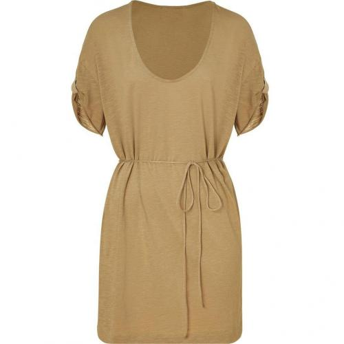 American Vintage Biscuit Drawstring Mini-Dress