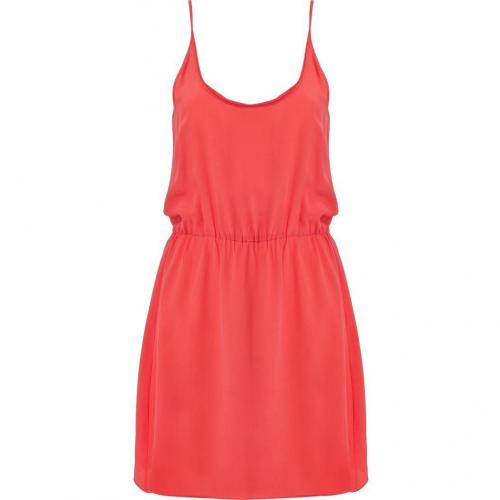 American Vintage Grapefruit Silk Dress