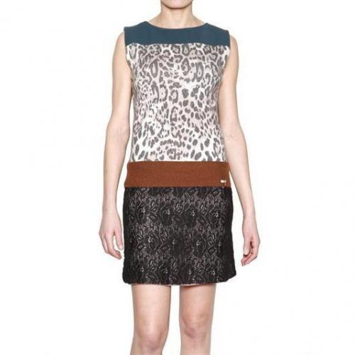 Aniye By Leopard Druck Strick & Spitzen Kleid