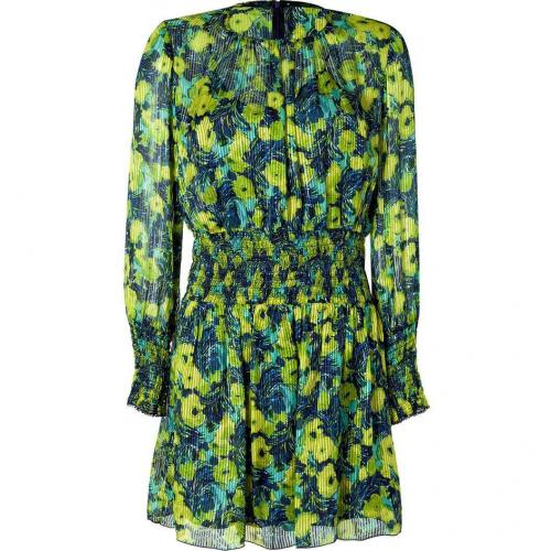 Anna Sui Chartreuse Multicolor Silk Blend Kleid