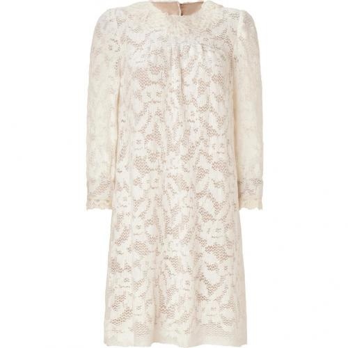 Anna Sui Cream Wooly Lace Kleid