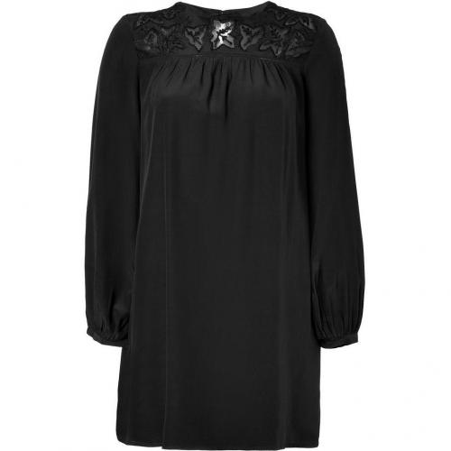 Antik Batik Black Embroidered Silk Dress