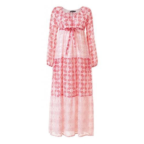 Antik Batik Ponka Gown Kleid Rot-Weiss