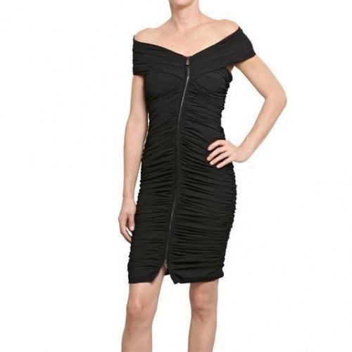Antonio Croce Gerafftes Mattes Stretch Jersey Kleid