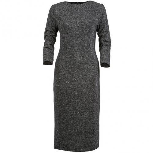Apart Jerseykleid grau mit Ärmeln