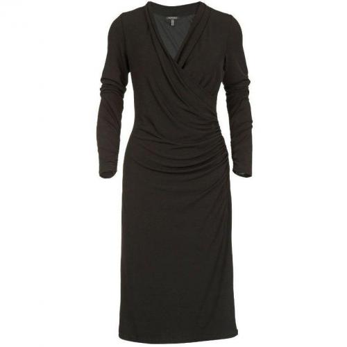Apart Jerseykleid schwarz mittellange Ärmel