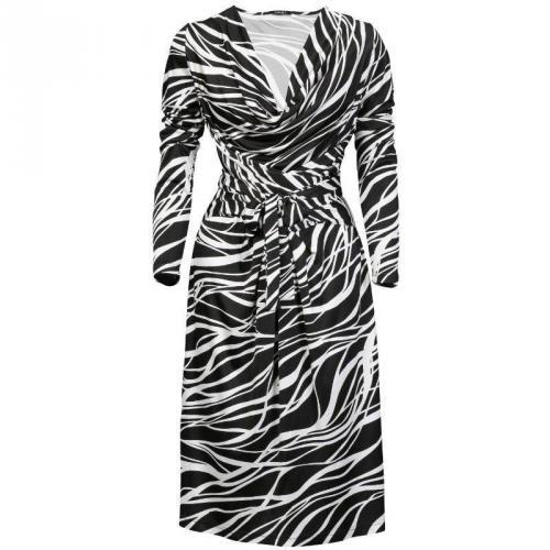 Apart Jerseykleid Streifenmuster schwarz/weiß