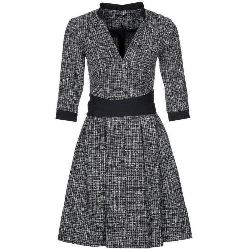 Axara Cocktailkleid / festliches Kleid grau mit Ausschnitt